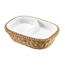 Krepšelis su porcelianiniu įdėklu 225x165 mm