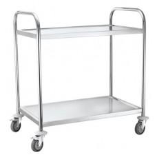 2 lentynų serviravimo vežimėlis