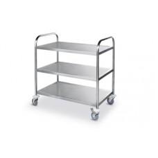 3 lentynų serviravimo vežimėlis