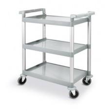 3 lentynų serviravimo vežimėlis iš polipropileno