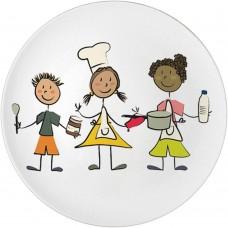 Lėkštė vaikams iš porceliano 160 mm