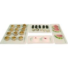 Gastronominis padėklas iš porceliano